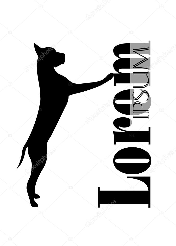 silueta de un perro con un lugar para el texto — Vector de stock ...