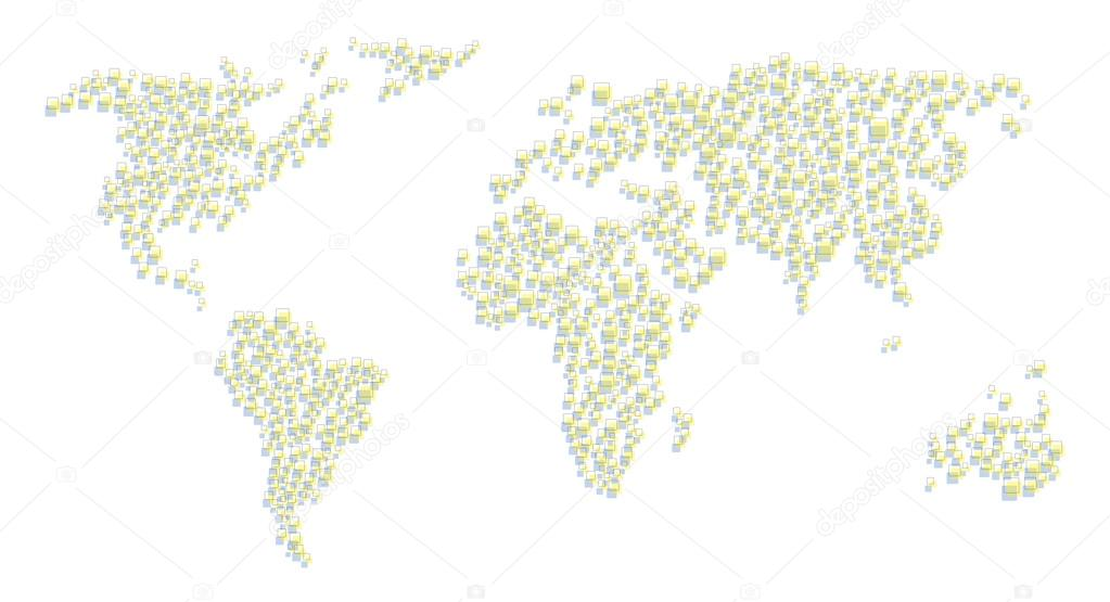 Abstract world map from squares stock vector matc 65936511 abstract world map from squares stock vector gumiabroncs Image collections