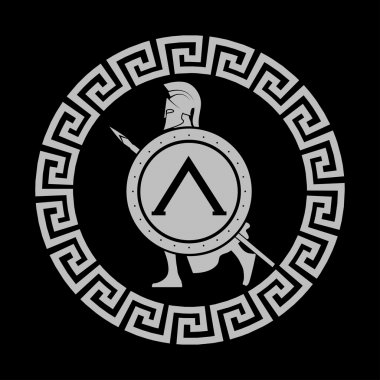 icon silhouette of the Spartan soldier