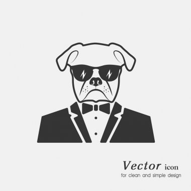 icon a dog muzzle in a suit