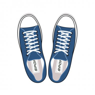 Youth sneakers stylish shoes top view