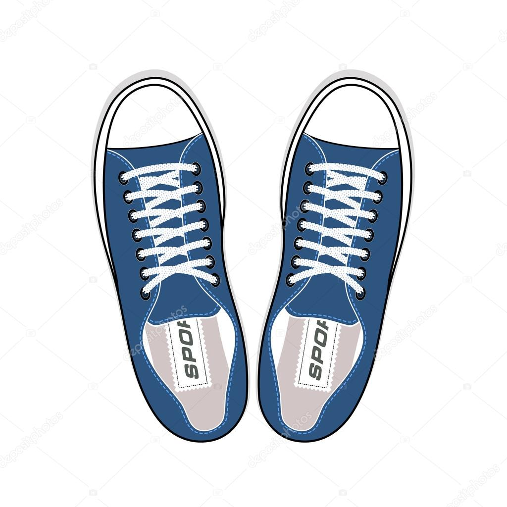 youth sneakers stylish shoes top view stock vector matc 82144828 rh depositphotos com top view shoe vector top view shoe vector