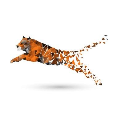 Tiger of polygons