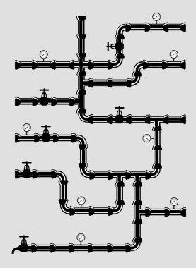 Scheme of water system .vector illustration