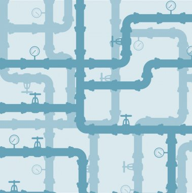 Scheme of water system .Seamless  background