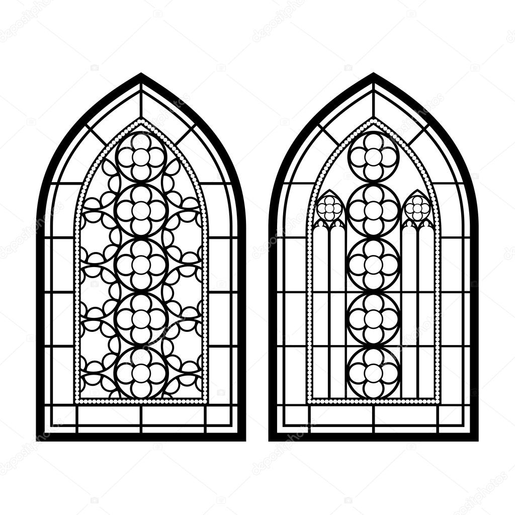 Finestre gotiche cornici d 39 epoca vetrate di chiesa for Window shapes and designs