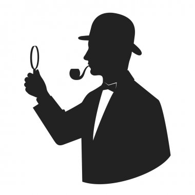 silhouette sleuth on a white background