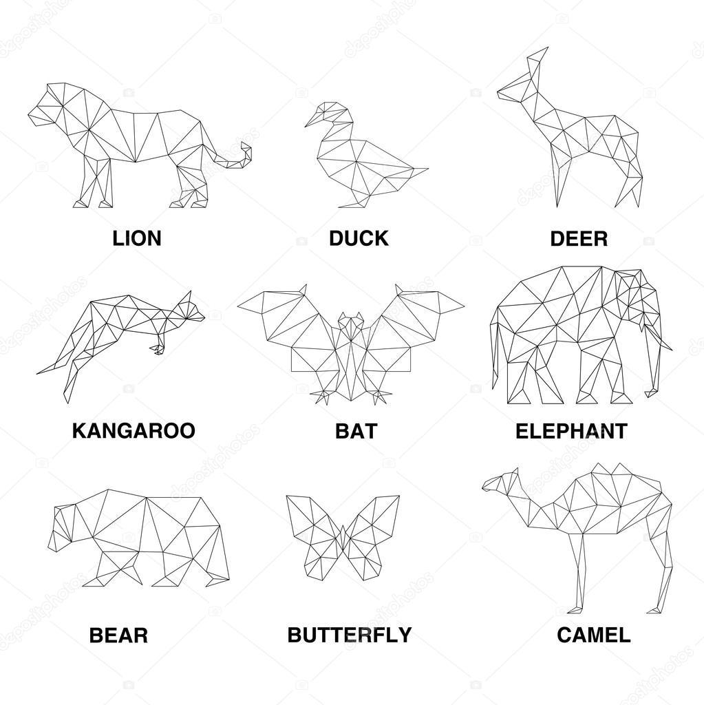 Imágenes Animales Geometricos Siluetas De Animales Geométricos