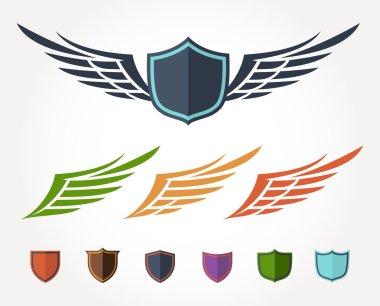 Winged crest flat design