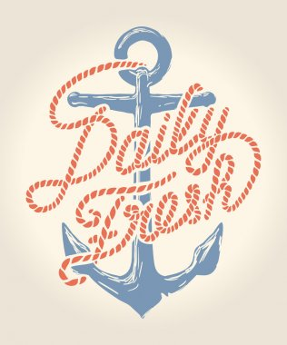 Daily fresh rope text over anchor illustration