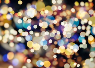 Elegant abstract background with bokeh defocused lights