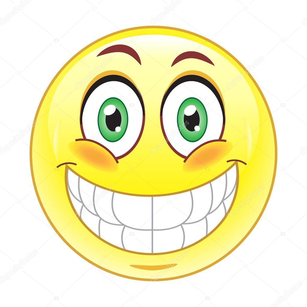 Big smile emoticon — Stock Vector © natalipopova #63875825