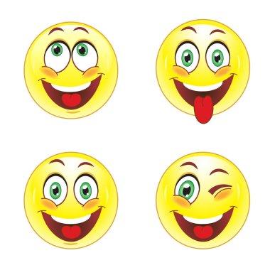 Set smiley faces
