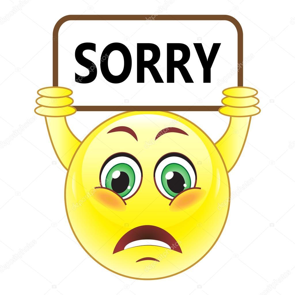 smiley with sorry symbol stock vector  u00a9 natalipopova I'm Sorry Clip Art Apology Letter Clip Art