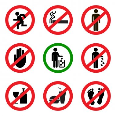Prohibitory vector icons