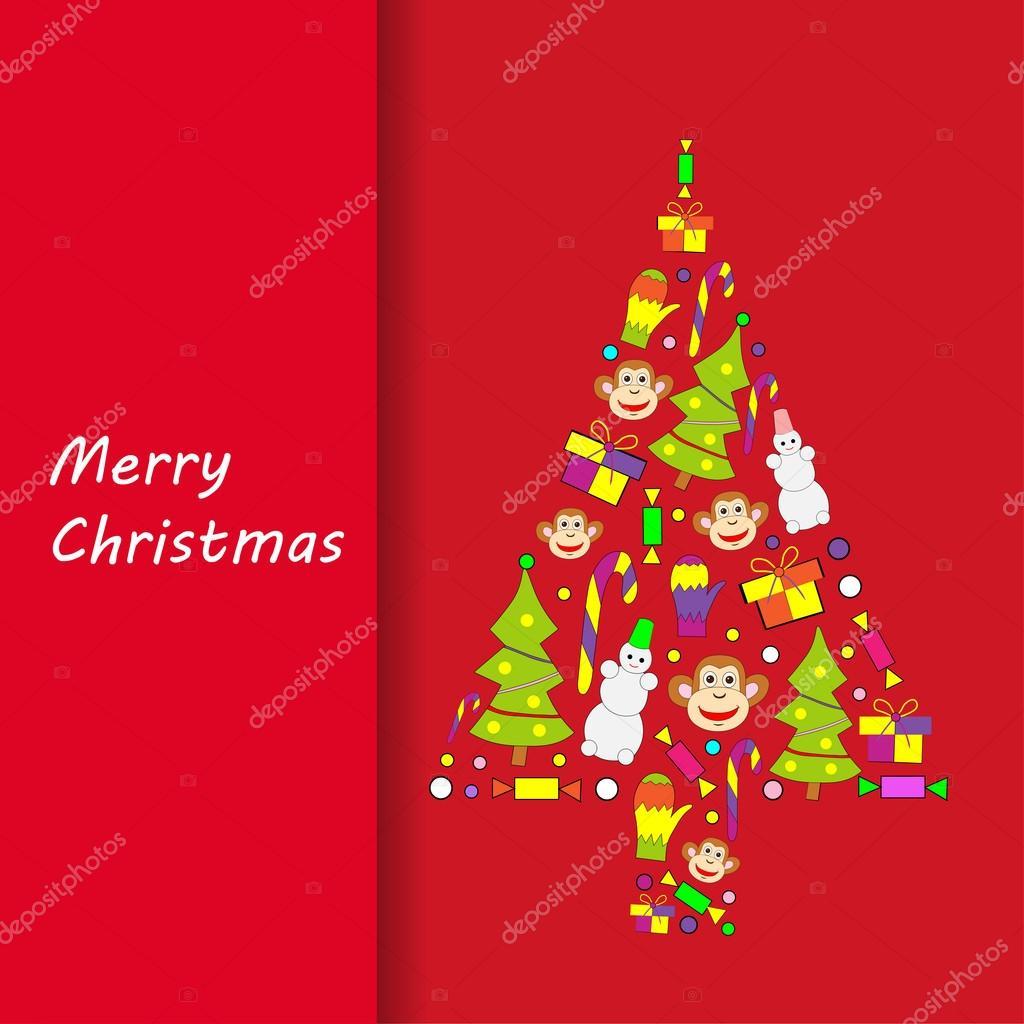 Postcard Merry Christmas