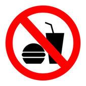 žádné jídlo povolené symbolu, žádné jídlo, žádné jídlo nebo nápoj oblast znamení, jídlo a pití zákazovou značkou