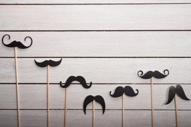 Wedding accessories set moustache