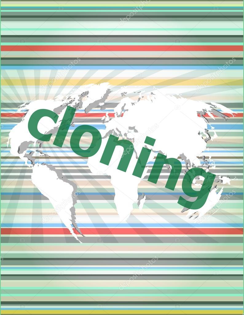 Hintergründe touch Wort Klonen,-Screen mit transparenten Buttons ...