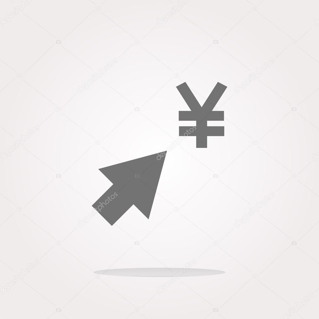 Yen currency symbol and arrow web button icon vector yen currency symbol and arrow web button icon vector illustration vector icon stock biocorpaavc