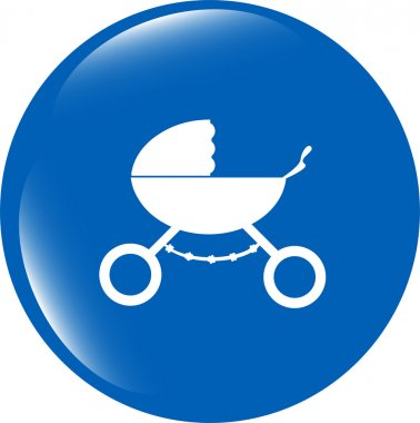 stroller icon in mode isolated on white background
