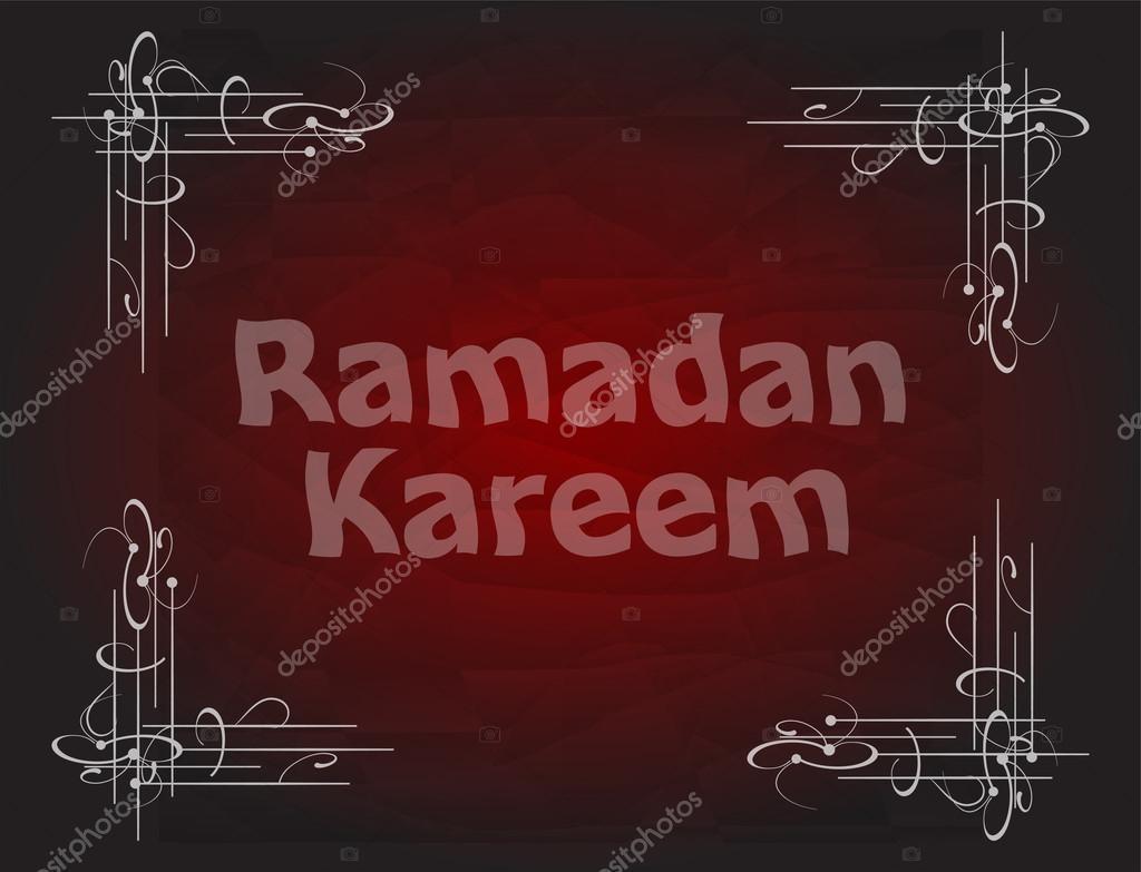 Beautiful red color Ramadan Kareem background design.