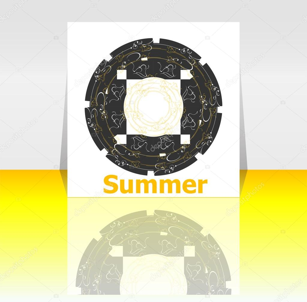 Hello Summer Poster. Summer Background. Effects Poster, Frame. Happy Holidays  Card, Happy Vacation Card. Enjoy Your Summer. U2014 Photo By Fotoscool