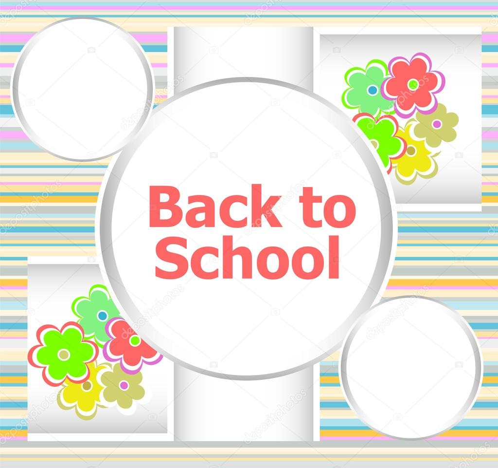 Back to school invitation card with flowers education concept back to school invitation card with flowers education concept photo by fotoscool stopboris Choice Image