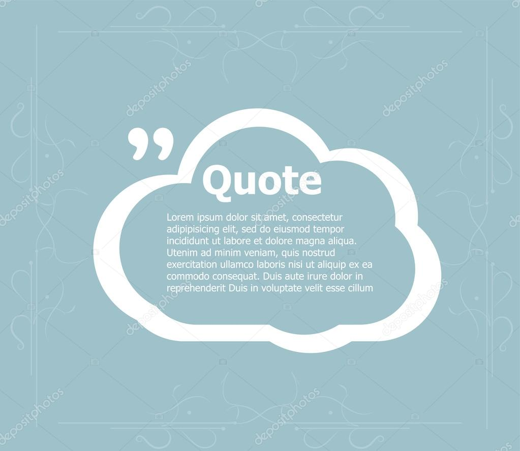 Quote blank template quote bubble empty template circle business quote blank template quote bubble empty template circle business card template paper reheart Images