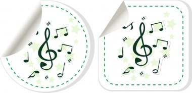 Songs for kids icon. Musical notes, melody sign. Globe, download and speech bubble buttons. Winner award symbol. Vector