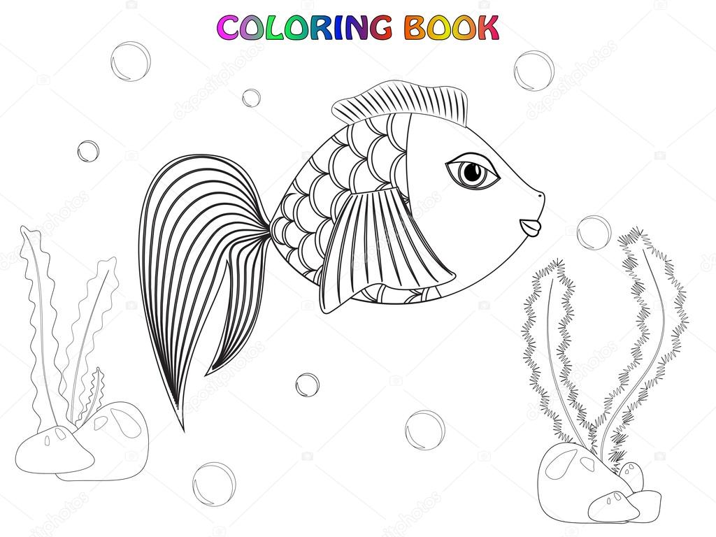 Ryby omalov nky stock vektor a y n 57627693 for Colorful fish book