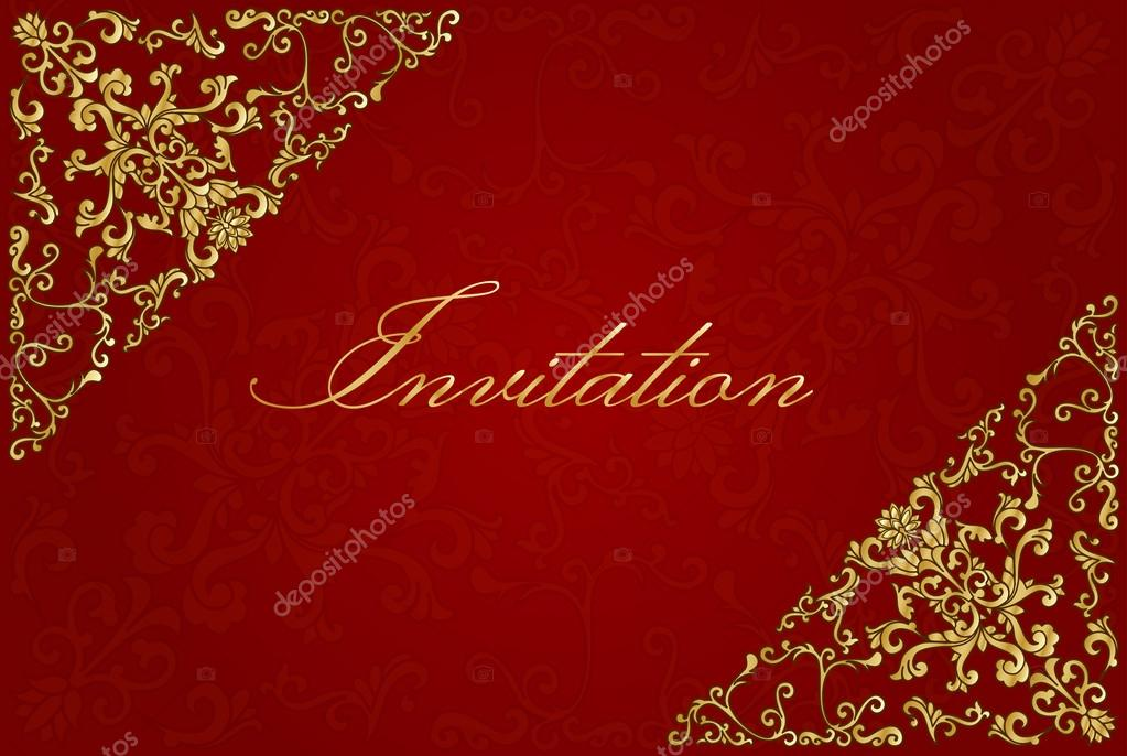 Vintage Invitation Card. Template Frame Design For Greeting And