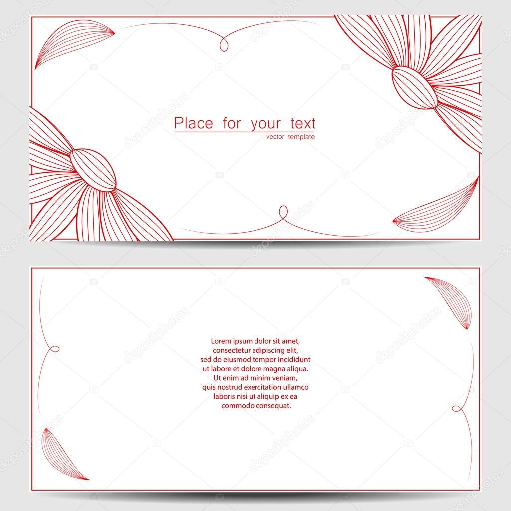 Plantilla vectorial para invitación de boda, tarjetas de ...