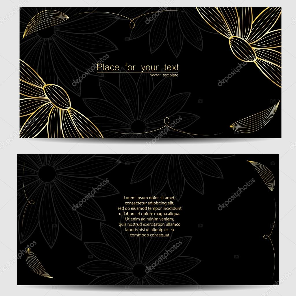 Vector template for wedding invitation, thank you card, save the date cards