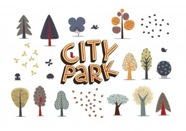 City park set white