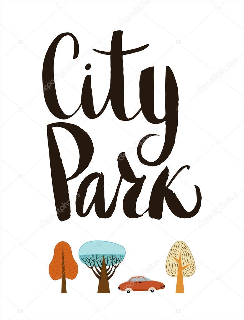 City Park lettering