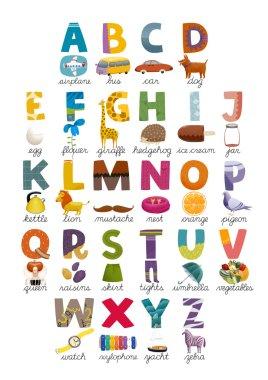 ABC print poster