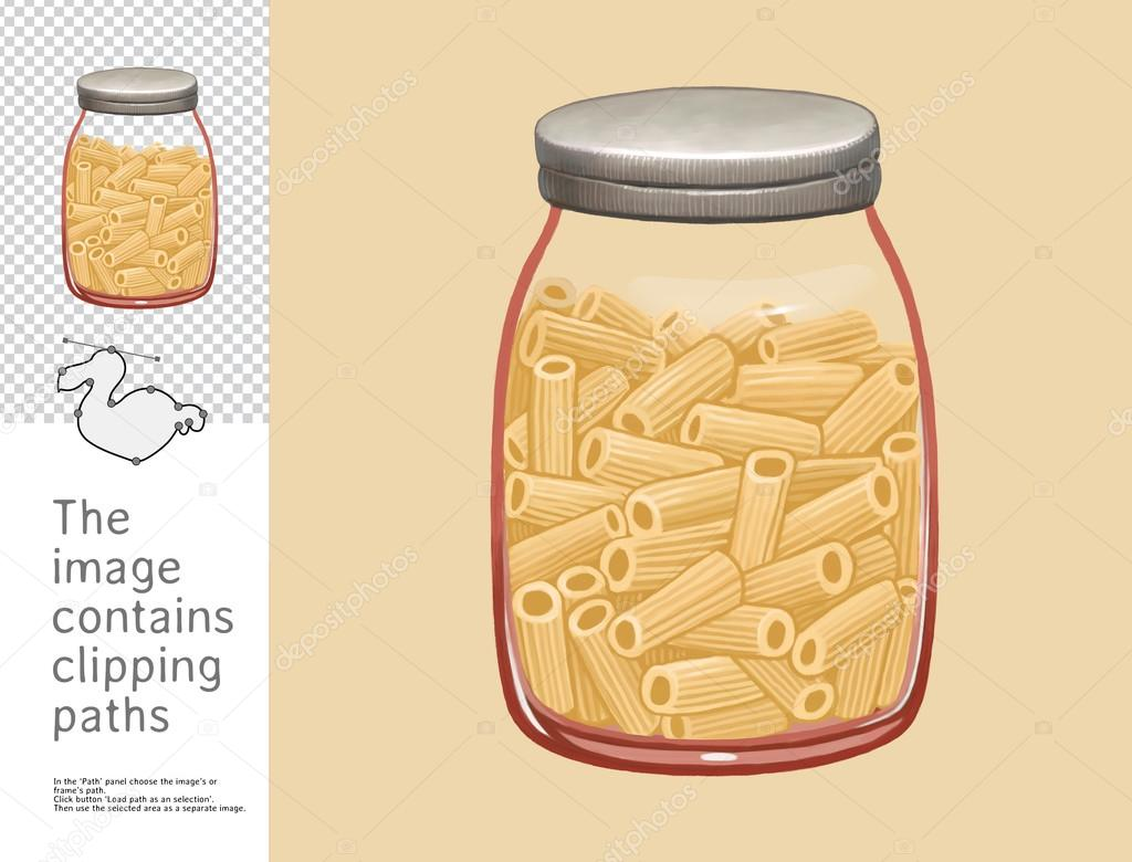 Jar of macaroni, Dodo collection