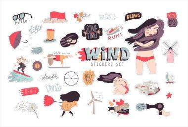 Windy girl  sticker pack 1