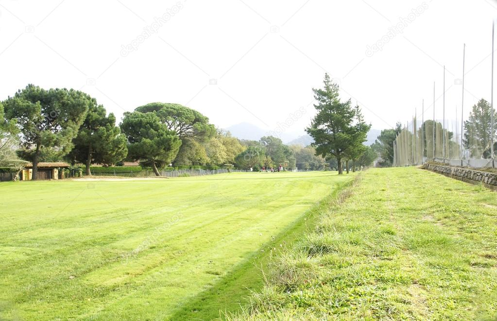 Golf course in the Montseny