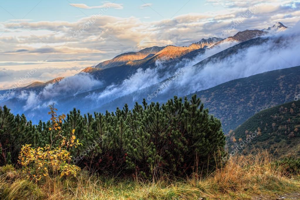 Sunset in the Polish Tatras