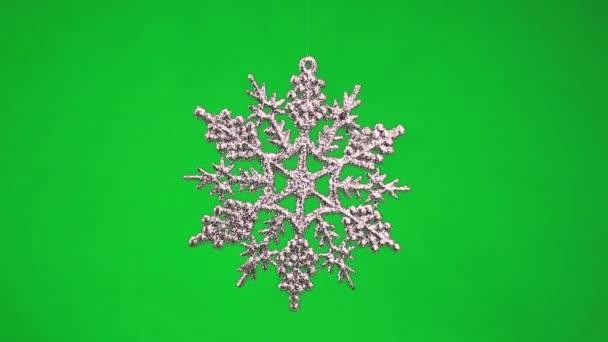 Christmas snowflake rotating