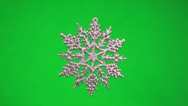 Christmas snowflake rotating