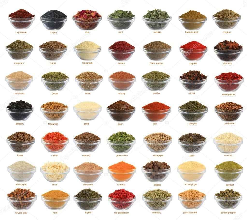 spices of a collage are