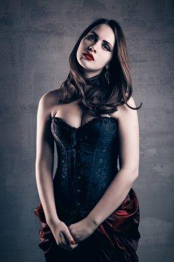Beautiful vampire woman