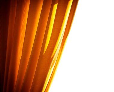 Luxury golden curtain