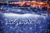 Fotografie verschneite Weihnachten Hintergrund
