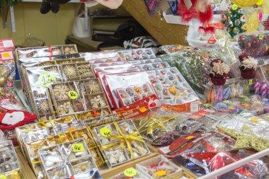MADRID,SPAIN - DECEMBER 18: Famous Christmas market full of shop