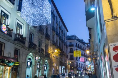 MADRID,SPAIN - DECEMBER 18: The streets of Madrid are filled wit