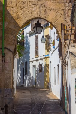 arches in the streets of the city of Cordoba, Spain